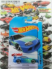 Hot Wheels 2014 #22 Toyota Supra BLUE,1stCOLOR,FALKEN TAMPO,MC5,METAL SPOILER,US