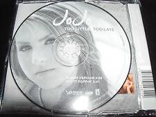 Jo Jo / JoJo Too Little Too Late Rare Australian Picture Disc CD Single