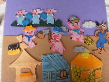 FELT BOARD STORY RHYME TEACHER RESOURCE - THE 3 THREE LITTLE PIGS
