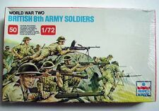 Figurines BRITISH 8 th ARMY SOLDIERS - WORLD WAR TWO - 1/72 - Esci