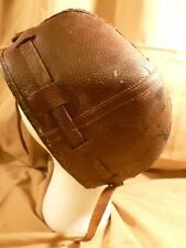 WWI WWII HELMET LEATHER EAR MUFFS CHIN STRAP ORIG !! AVIATION EXPLORERE ARTIC