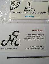 1 x SHIMANO DURA ACE WH-7900 C35 REAR WHEEL NON DRIVE SIDE SPOKE BLACK 295mm
