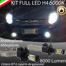KIT FULL LED FIAT PUNTO EVO LAMPADE LED H4 6000K BIANCO GHIACCIO NO ERROR 8000LM
