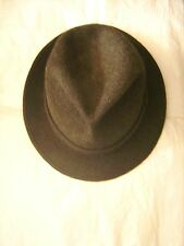 """Superbe chapeau FLECHET en feutre poil """"vert étang"""" T 55 TBE"""