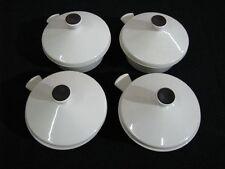 4 Fris Edam Mid Century Modern Covered Individual Handled Serving Bowls Holland