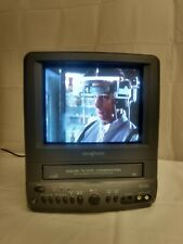 """Broksonic CTSGT-2799T 9"""" Color TV VCR Combo Portable Video Recorder Tested A+"""