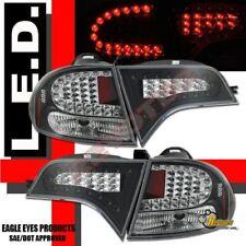 Black LED Tail Lights 1 Pair For 2006-2011 Honda Civic 4 Door Sedan