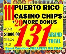 MEGA Set 131 total PUERTO RICO CASINO POKER CHIP COLLECTION +Bonus BEST DEAL EVR