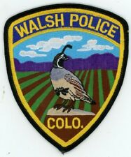WALSH COLORADO CO POLICE COLORFUL PATCH SHERIFF NICE QUAIL