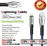 New iPhone Lightning Charger Cable For iPhone 6 7 8 Plus Xs XR 5 Data Sync Cord