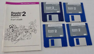 Reader Rabbit 2 Learning Co. Games Macintosh Floppy Discs Vintage Computer