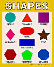 Shapes Chart by School Smarts ● Fully Laminated, Durable Material Rolled and in
