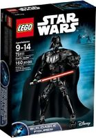 DARTH-VADER-STAR-WARS-LEGO-SET-SITH-LORD-160 PC-BUILD-POSABLE-FIGURE-MODEL-11 IN