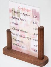 Tischaufsteller Holz+Plexi