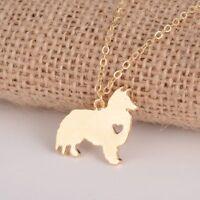 2019 Hot Gold/Silver Sheltie Shetland Sheepdog Dog Breed Necklace for Pet Lover