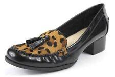Ann Klein Deziree loafer with heel leopard tops with tassels nib sz 7M ret $89