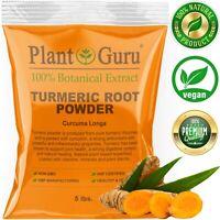 Turmeric Root Powder 5 lbs. Curcumin Curcuma Longa Raw Pure Tumeric Spice BULK
