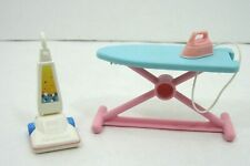 Fisher Price Doll Furniture Accessories Ironing Board with Iron and Vacuum