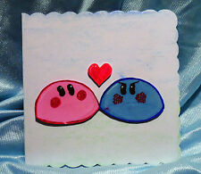 Fait main original HAND-DRAWN Clannad Dango daikazok kawaii Carte De Vœux Vierge