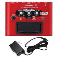 Boss VE-2 Vocal Harmonist & PigHog PP9V PowerPig 9V DC 1000ma Power Supply New