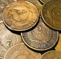 US Two Cent Piece Lot 17 Mixed Dates 1864-1868 Ungraded Civil War Era Coins A218