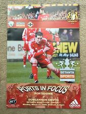 2006 Setanta Irish Sports Cup Group 1 - Portadown v Dungannon Swifts PROGRAMME