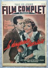 Magazine FILM COMPLET LA DANGEREUSE AVENTURE No time for love COLBERT 1948 *