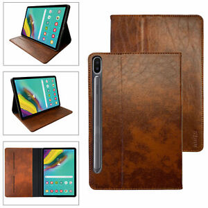 "Leder Schutzhülle Samsung Galaxy Tab S7 11"" T870 / T875 Case Tablet Tasche Cover"