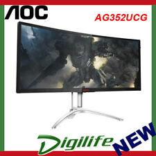 "AOC Agon AG352UCG 35"" G-Sync Curved Gaming Monitor Ultra-Wide QHD 100Hz IPS SPK"