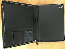 Montblanc Sartorial Notepad Large with Zip Black New
