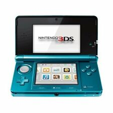 Portable Nintendo 3DS Aqua Blue Very Good Portable System 7Z