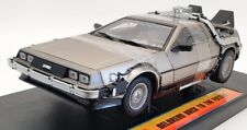 Sun Star 1/18 Scale Model Car 2711 - Deloren Back To The Future - Silver