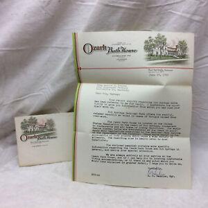 Vtg 1962 Letter & Envelope Hot Springs Arkansas National Park Ozark Bath House