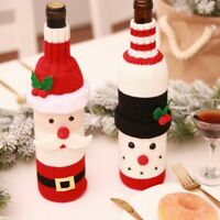 Christmas Santa Wine Bottle Cover Gift Bag Dinner Party Xmas Table Decoration