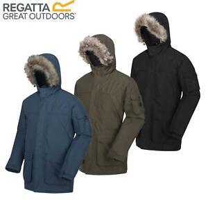 Regatta Mens Salinger II Waterproof Insulated Fur Trimmed Hooded Parka Jacket