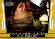 Star Wars 40th Anniversary Gold Parallel Card, #35 Meeting Jabba The Hutt, Topps