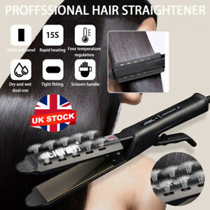 Professional Ceramic Tourmaline Steam Ionic Flat Iron Hair Straightener Salon UK