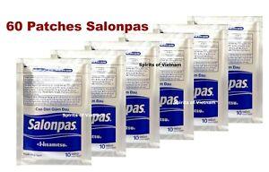 60 Patchs Salonpas: soulage douleur dos, muscles, arthrite (6.5x4.2cm)
