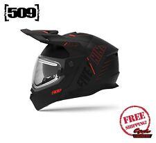 509 DELTA R4 IGNITE SNOWMOBILE HELMET BLACK AURA / HEATED SHIELD MODULAR DOT ECE