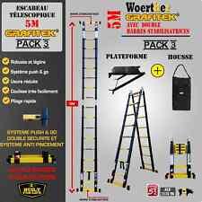 ESCABEAU TELESCOPIQUE WOERTHER 5M PACK 3 ESCABEAU + PLATEFORNE + HOUSSE