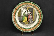Antique ADAMS Cries of London Polychrome Plate The Fish Seller            ND3038
