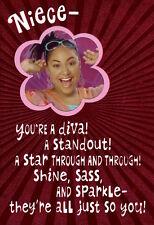 Happy Birthday Niece That's So Raven Baxter Diva & Standout Hallmark Card