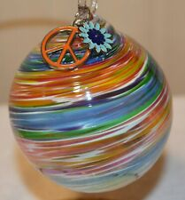 Summer of Love Artisan Ornament by Glass Eye Studio, Made in USA, 1212OAS  2
