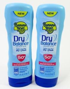 Lot Of 2 Banana Boat Dry Balance SPF 50+ Sunscreen Body Lotion 6 Fl. Oz.
