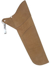 """TRADITIONAL ARCHERY SUEDE LEATHER SIDE HIP ARROW QUIVER  HL# 111 RH/LH 19"""" LONG."""