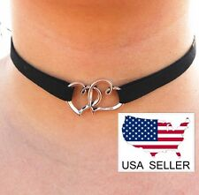Double Heart Silver & Black Vintage Style Choker ~ US Seller ~ BRAND NEW