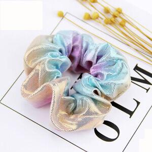 Women Scrunchie Glitter Hair Ties Ponytail Hair Rope Colorful Elastic Hair Bands