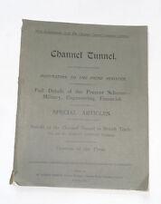 CHANNEL TUNNEL : Engineering / Military / War Tunnels / WW1 / Railways / 1913