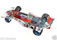 Mclaren 1976 F1 James Hunt Motorsport cutaway Large promo poster