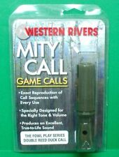 New Western Rivers Mity Call Fowl Play Series Double Reed Duck Call